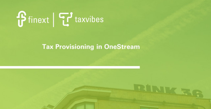 Tax provisioning in OneStream