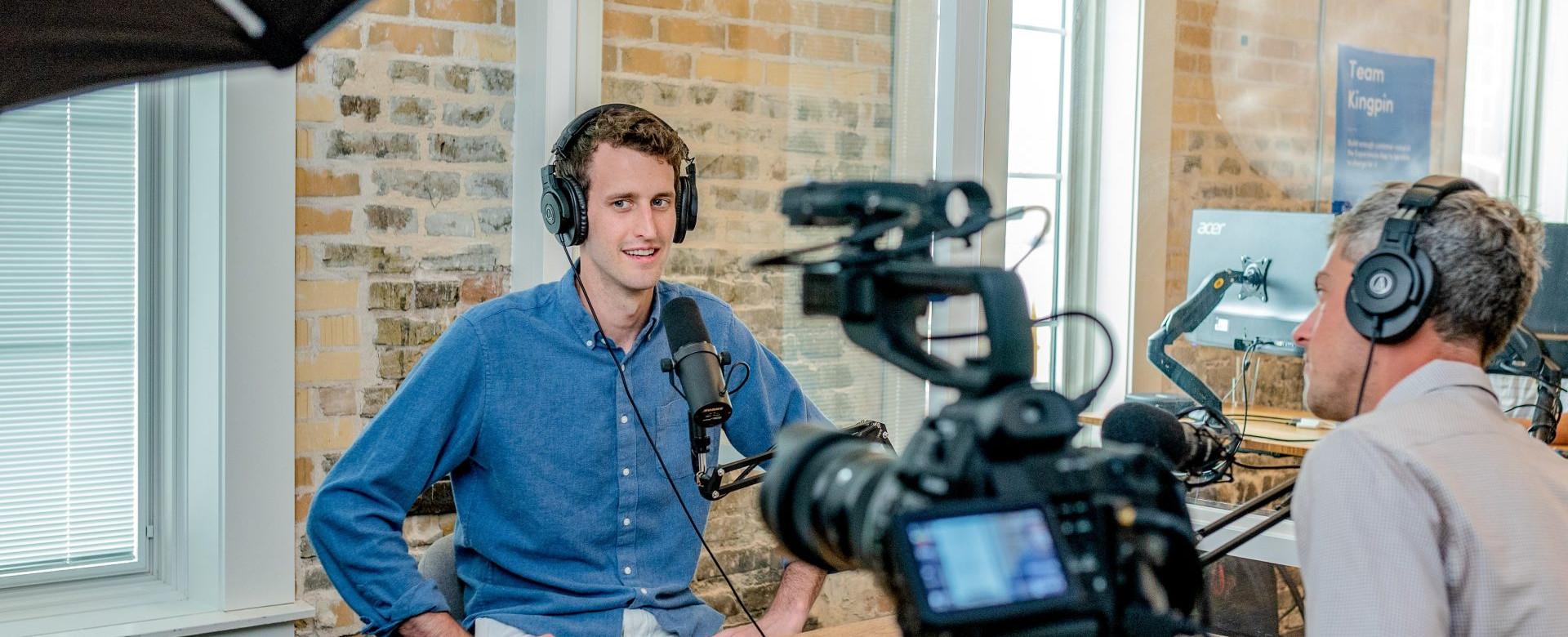 TaxVibe employee recording webinar